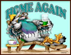 """""""Home Again"""" © Ladybug Creations. So perfect for parents of college or adult children returning home again to live."""