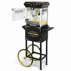 4oz Vintage Circus Popcorn Machine with Free Standing Cart