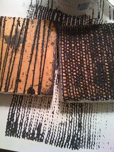 Kelly Darke - Fine Art: Hand made stamps with yarn