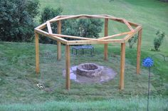 The wooden pergola is a good solution to add beauty to your garden. If you are not ready to spend thousands of dollars for building a cozy pergola then you may devise new strategies of trying out something different so that you can re Pergola Swing, Outdoor Pergola, Pergola Shade, Outdoor Fire, Diy Pergola, Porch Swing, Outdoor Living, Pergola Ideas, Cheap Pergola