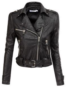Doublju wome's Motorcycle Jacket With Belt Strap (KWOJA04) #doublju