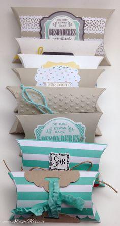 Stampin Up - Stempelherz - Pillowbox - Verpackung - Groessenvergleich Pillowboxen 01