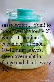 How's this for weight loss??  I have no idea... but I do love cucumbers.  =D