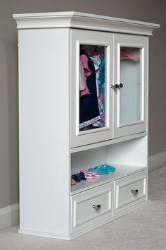 Ideas Kids Storage Clothes American Girl Dolls For 2019 Casa American Girl, American Girl Storage, American Girl Crafts, American Girls, American Doll Clothes, Diy Wardrobe, Wardrobe Storage, Clothes Storage, Diy Clothes