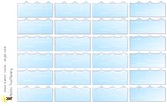 """Wave """"quarter boxes"""" for your Happy Planner, Erin Condren or Wall Calendar by apricottreeplanning on Etsy"""