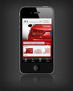 Audi A1 iPhone App UI by Hani Sharaf, via Behance