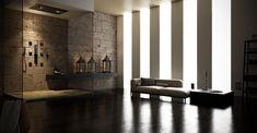 MyDream complete shower space assuring multi-sensorial experience for body, mind and spirit's new life. Soluzione completa MyDream per lo spazio doccia che assicura una multisensorialità per una rinascita di corpo, mente e spirito.