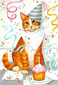 Birthday Party Cat ~*~ Stephanie Stouffer