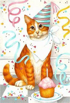 Birthday Party Cat ~*~ Stephanie Stouffer