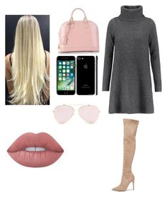 """""""Fall in the city x"""" by venexxxxx on Polyvore featuring Kendall + Kylie, Madeleine Thompson, Louis Vuitton and Lime Crime"""