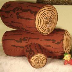 Wool Log Pillow