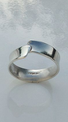 Sterling Silver Band Ring by CopperfoxGemsJewelry on Etsy https://www.etsy.com/listing/243044589/sterling-silver-band-ring