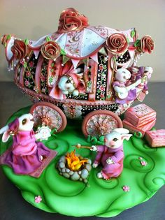 Gypsy Bunnie Wagon Cake by Karen Portaleo/ Highland Bakery, via Flickr (WOW!)