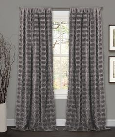 Another great find on #zulily! Gray Emma Curtain Panel #zulilyfinds