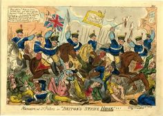 """Briton's strike home """"He told me he was the Battle of Waterloo, but he was never in such danger as at this meeting, for at Waterloo it was man…"""