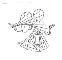 iris folding Christmas angel by Rubrique                                                                                                                                                                                 More