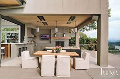 Modern Outdoor Living Area   LuxeSource   Luxe Magazine - The Luxury Home Redefined