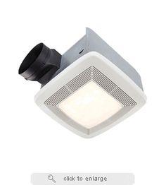 QTR080L Broan Ultra Silent Bath Fan, Light, Night Light 80 CFM
