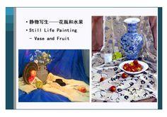 Still Life Painting - Vase & Fruit