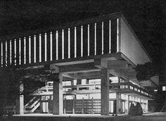 [Shimane Prefectural Museum, Matsue, Japan, 1960 (Kiyonori Kikutake)]