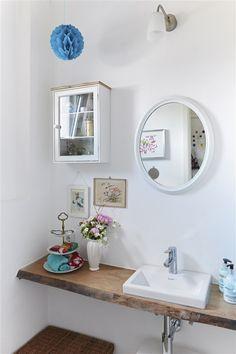 salle de bain minimaliste alliant vintage et modernité !