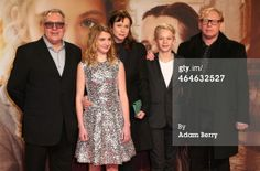 Brian Percival, Sophie Nelisse, Emily Watson, Nico Liersch and Ben Becker arrive for the German premiere of the film 'The Book Thief' (Die Buecherdiebin) at Zoo Palast on January 23, 2014 in Berlin, Germany. (Photo by Adam Berry/Getty Images)