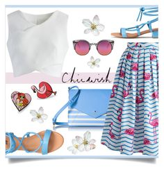 """Chicwish Contest"" by mahafromkailash ❤ liked on Polyvore featuring Chicwish, Kate Spade, Quay, Punky Pins and chicwish"