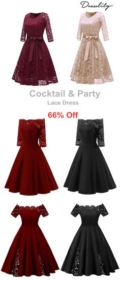 152a25cc092 Off Shoulder Lace Dress for Cocktail Parties