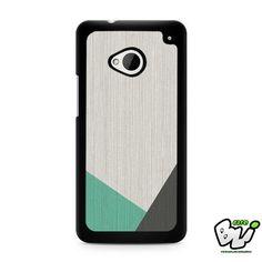 Geometric Wood Mint And Grey HTC G21,HTC ONE X,HTC ONE S,HTC M7,M8,M8 Mini,M9,M9 Plus,HTC Desire Case