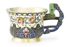 A Russian gilded silver and cloisonné enamel charka, Fedor Rückert, Moscow, 1899-1908 | Lot | Sotheby's