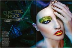 Heren  - Entitled 'Electric Shock', this shimmering beauty editorial graces the July 2013 issue of Heren. Model beauty Irina Gorban stars in the...