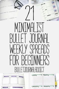 Bullet Journal Weekly Spreads and Layouts - Minimalist Bullet Journal Ideas - 21 Minimalist Bullet Journal Weekly Spreads for Beginners bullet journal Bullet Journal Addict - 21 Easy Bullet Journal Weekly Spreads For Beginners Bullet Journal Inspo, How To Bullet Journal, Bullet Journal For Beginners, Bullet Journal Aesthetic, Bullet Journal Spread, Bullet Journal Workshop, Bullet Journal Materials, Best Bullet Journal Notebooks, Travel Journals