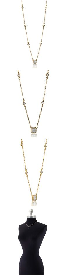 Gold Plated Sterling Silver CZ Fashion Necklace