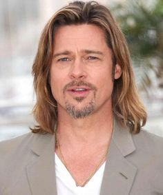 Brad Pitt Long Hair - 40 Hot Guys with Long Hair: Sexy Long Hairstyles For Men #longhairmen #menshairstyles #menshair #menshaircuts #menshaircutideas #menshairstyletrends #mensfashion #mensstyle #fade #undercut #barbershop #barber