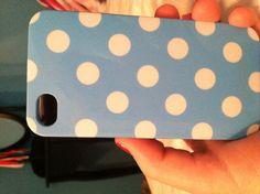 polka dot blue case