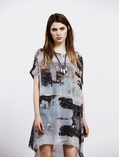 All Saints Spitalfields Temple Dress + Indra Sautoir Necklace