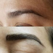 Microblading is a hairlike stroke using pigment to create a more natural looking eyebrow. I specialize Microblading is San Tan Valley.