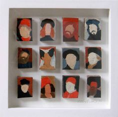 The power of simplicity. Could be interesting to use as research for own self portraits. Holly Frean- Twelve Old Masters