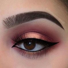 When it comes to eye make-up you need to think and then apply because eyes talk louder than words. The type of make-up that you apply on your eyes can talk loud about the type of person you really are. Makeup Eye Looks, Eye Makeup Art, Cute Makeup, Pretty Makeup, Skin Makeup, Eyeshadow Makeup, Beauty Makeup, Gold Eyeshadow, Eyeshadows