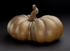This spooky sculpture by Kate Malone, Mother Pumpkin II, is on display on the…