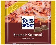 RITTER SPORT Fake Schokolade Scampi-Karamell