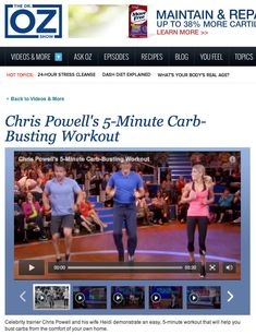 The Dr. Oz Show: Chris Powell's 5 Minute Carb Busting Workout | Heidi Powell