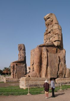 Colossi of Memnon - Theban Necropolis, Luxor, EGYPT