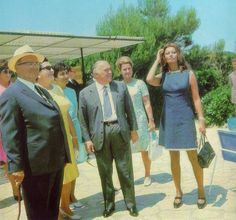 Josip Broz Tito president of SFRJ Yugoslavia with Sophia Loren and Carlo Ponti.