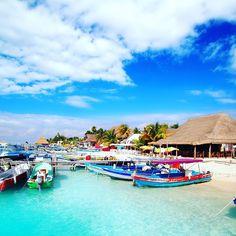 The colors of Isla Mujeres Mexico. #caribbean #islamujeres #vacation #justgo #castaway #travel #beaches