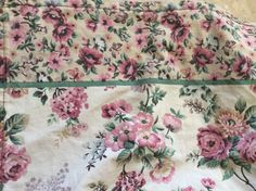King Flat Floral Sheet  Pink Roses  Victorian  by ShabbyPinkGarden