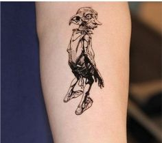Harry Potter Dobby Elf And DEATH EATERS drawing temporary tattoo