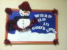 Winter church bulletin board
