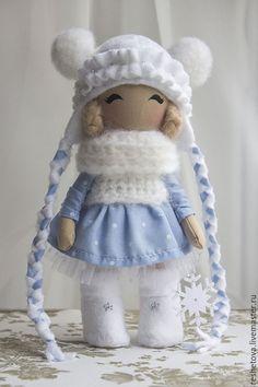 Купить Снегурочка - синий, кукла ручной работы, кукла, кукла в подарок, кукла интерьерная