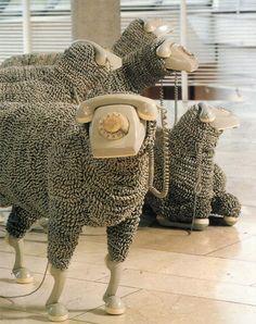 Telephone Sheep by Jean-Luc Cornec